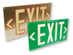AlumaGlow™ Photoluminescent Exit Signs