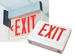Battery Exit Signs