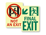 Egress Photoluminescent  Exit Signs