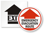 Evacuation Route Floor Signs & Stencils