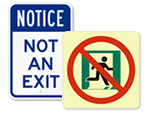 No Exit Traffic Signs
