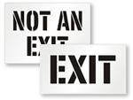 Not An Exit Stencils