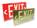 SuperGlow™ Photoluminescent Exit Signs