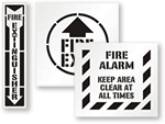 Exit Fire Stencils