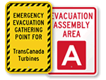 Custom Evacuation Signs