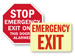 Photoluminescent Emergency Exit Signs