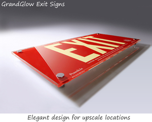 Designer exit signs