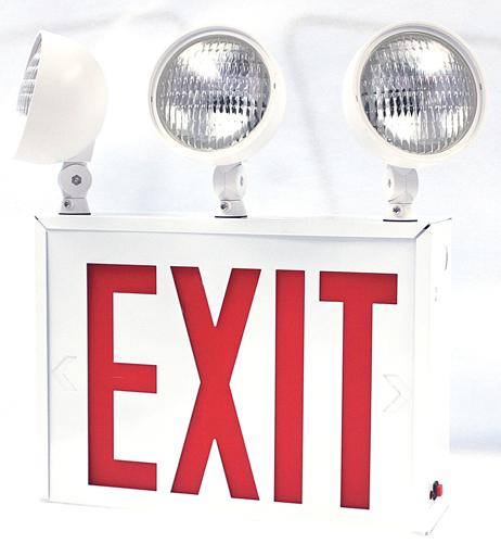 new york approved led exit sign red letters sku exit. Black Bedroom Furniture Sets. Home Design Ideas