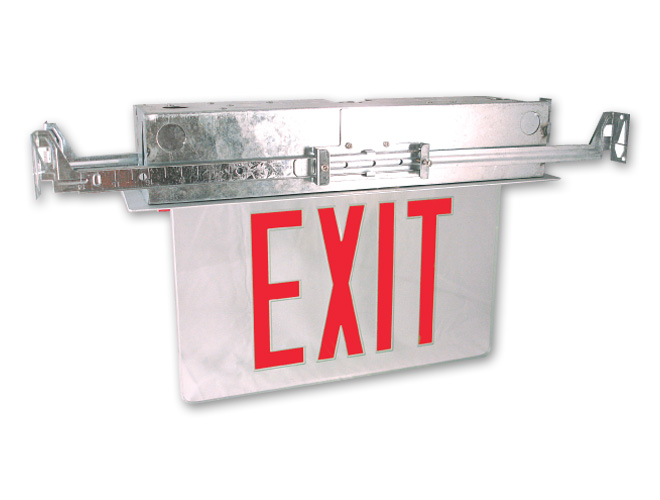 Recessed Mounting Edge-Lit LED Exit Sign - Hubbell Healthcare