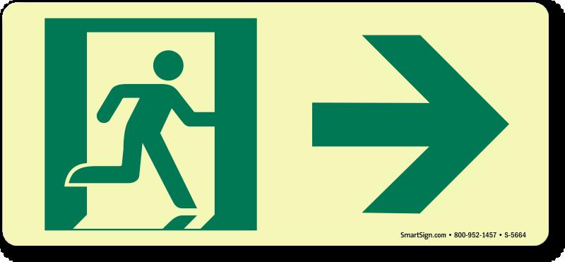 Emergency Exit Sign, SKU: S-5664