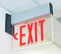 Universal Mount Edge-Lit LED Exit Sign