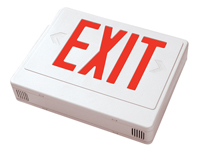 LED Exit Sign, Battery Backup