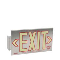 1 Sided, Brushed Aluminum Exit Sign, Box