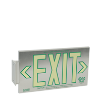 1 Sided, Brushed Aluminum Exit Sign, Box