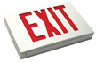Cast Aluminum Exit Sign With White Face