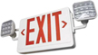 Combo LED Exit Sign with Adjustable Lamp Heads