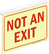 Glow Not An Exit Z-Sign for Ceiling