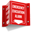 Emergency Evacuation Alarm Projecting Sign