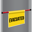 Evacuated Door Barricade Sign