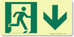 GlowSmart™ Directional Exit Sign, Down Arrow