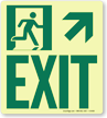 GlowSmart™ Directional Exit Sign, Upward Arrow Sign