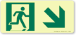 GlowSmart™ Directional Emergency Signs, Arrow Down