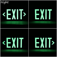 1 Sided, Green Background. Glowing letters