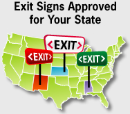 See Exit Signs Approved For Your State