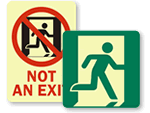 Running Man Exit Signs