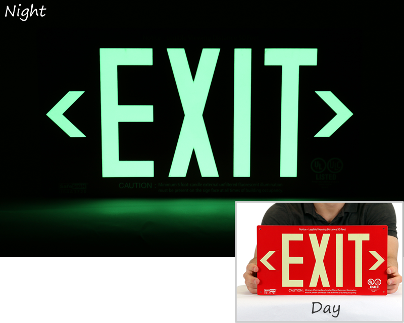 Photoluminescent Exit Signs Ul924 Exit Signs