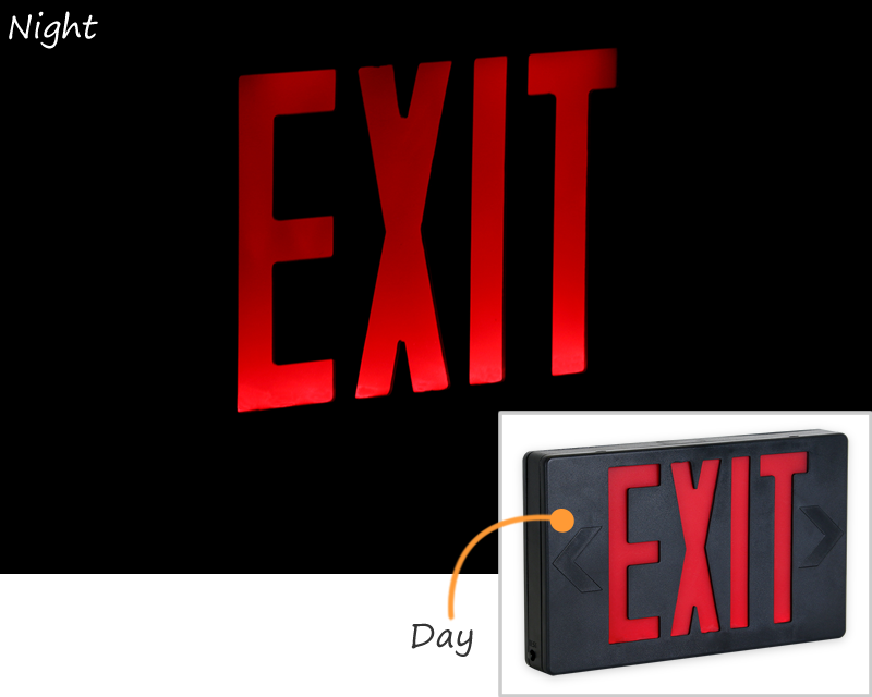 led exit signs reflective led exit signs