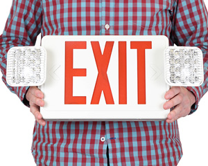 Combination Exit Signs   Emergency Lighting