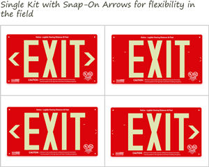 Photoluminescent Exit Signs in Day