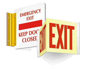 Projecting & DropCeiling Exit Signs