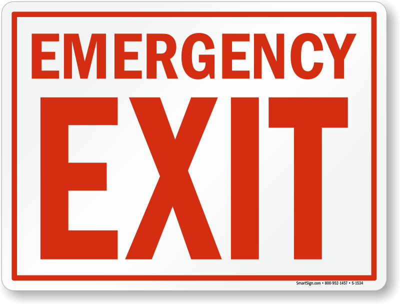 Emergency Exit Signs Fire And Emergency Signs Sku S 1534