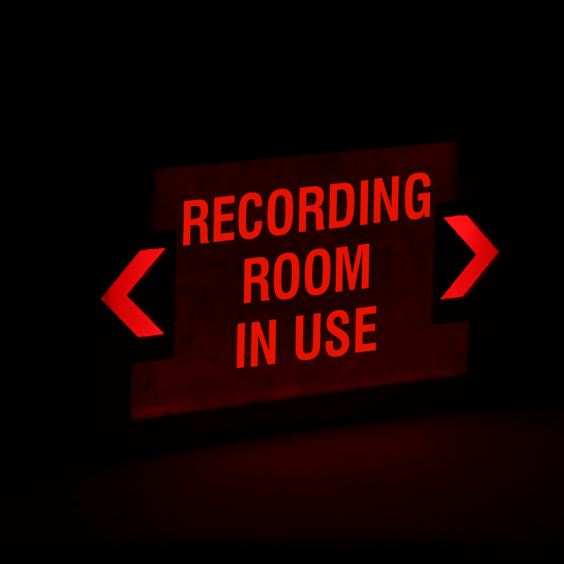 Recording Room In Use Led Exit Sign With Battery Backup
