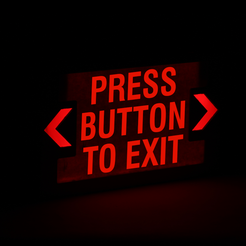 press button to exit led exit sign with battery backup sku exit 1009 press button to exit led exit sign with