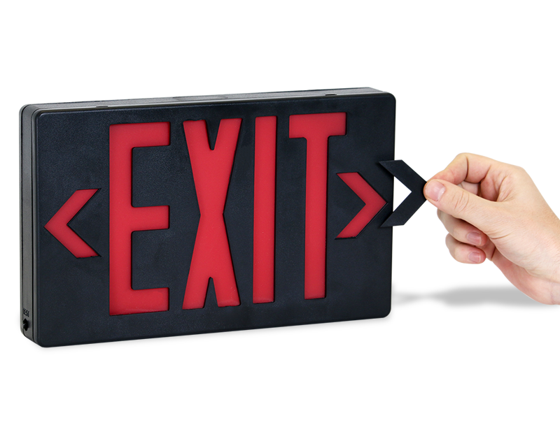Led Exit Sign With Battery Backup Sku Exit 101wh B