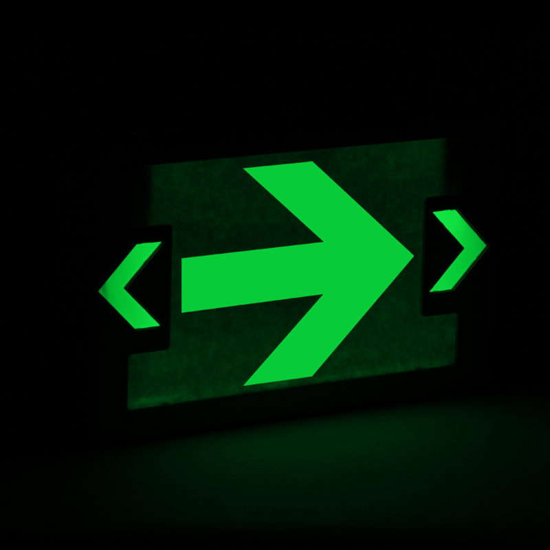 Right Arrow Symbol Led Exit Sign With Battery Backup Sku Exit 1033
