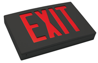 Cast Aluminum Exit Sign with Black Face