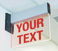Universal Mount Edge Lit Exit Sign