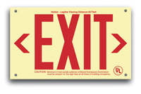 Double-Sided unframed EXIT Sign, EXIT in red