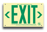 EXIT Sign, 6 in. letters in green