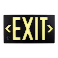 Black  Molded Photoluminescent Exit Sign