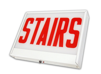 Chicago-Approved Stairs Sign, Steel face