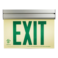 Green Arcylic Photoluminescent Exit Sign