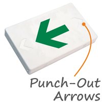 Left Arrow Symbol LED Exit Sign with Battery Backup