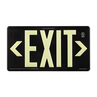 Black Recyclable  Non-Toxic  and Non-Radioactive photoluminescent Exit Sign
