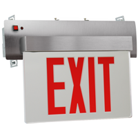 Edge-Lit LED Exit Sign, UL924 And NFPA 101