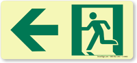 GlowSmart™ Directional Emergency Signs, Arrow Left